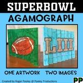 Super Bowl 2019-2023 Agamograph Art Activity