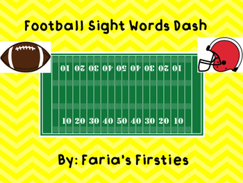 Superbowl Football Dash First Grade Dolch Words