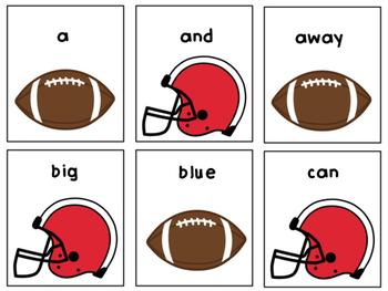 Superbowl Football Dash Sight Dolch Words BUNDLE!