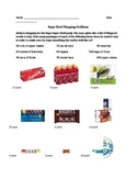 Superbowl Shopping Multiplication/Divison Worksheet