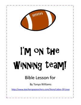 Superbowl Sunday Bible Football Lesson
