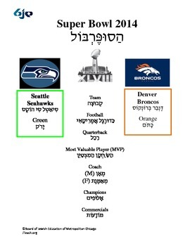 Superbowl in Hebrew