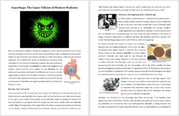 Superbugs - The Super Villains of Modern Medicine - Reading Article