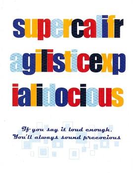 Supercalifragilisticexpialidocious motivational poster English Spelling