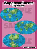 Supercontinents Clip Art Set