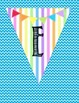 Supercute Welcome Banner - Love this Chevron and Rainbow Bunting!