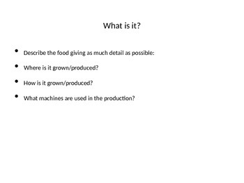 Superfoods Powerpoint Research Project