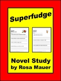 Superfudge Book Unit with Comprehension Questions and Writing Activities