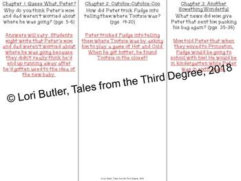Superfudge Read Aloud Write Along Book Study