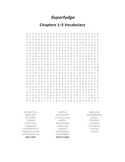Superfudge Vocabulary Word Search Packet for Chapters 1-12