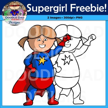 Supergirl Free Clip Art (Superhero, superpowers, comic book, super girl)