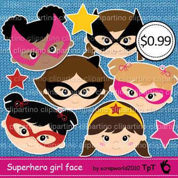 Supergirl head clipart