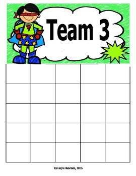 Superhero Incentive Charts and Labels to Support Classroom Management