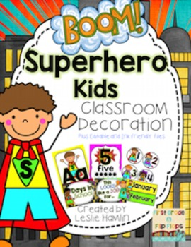 Superhero Kids: Classroom Decor Pack