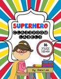 Superhero - 16 FREE classroom labels