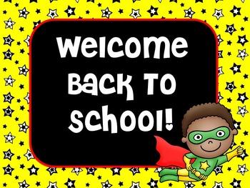 Superhero Theme Classroom | Superhero Classroom Theme Welcome Sign