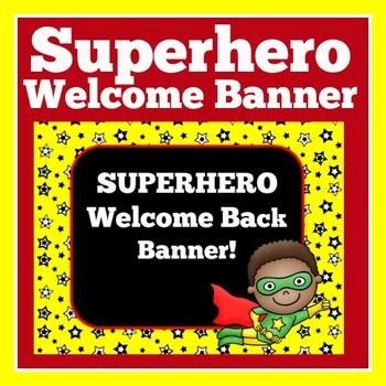 Superhero Theme Banner   Superhero Theme Classroom   Super