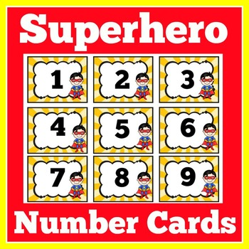 Superhero Theme | Superhero Number Cards | Superhero Themed