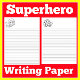 Superhero Writing Paper | Superhero Theme Writing Paper