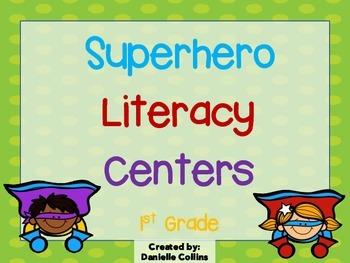 Superhero 1st Grade Literacy Pack (11 CCSS Centers)