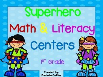 Superhero 1st Grade Math & ELA Pack (26 CCSS Centers)
