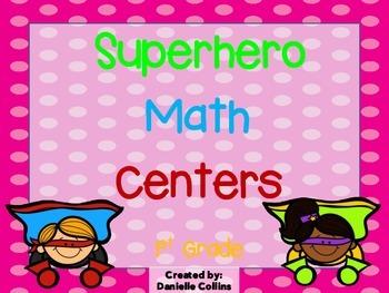 Superhero 1st Grade Math Pack