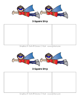 Superhero 3-Square Strip (Boy)