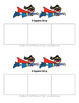 Superhero 3-Square Strip (Girl)