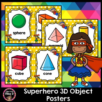 Superhero 3D Object Posters