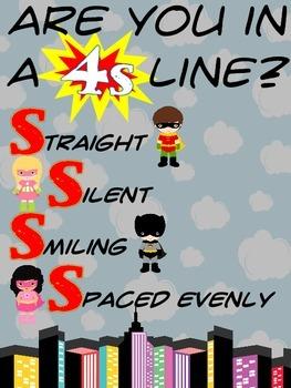 Superhero 4S Line Poster
