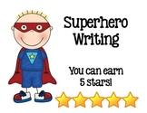 Superhero 5 Stars Writing Rubric