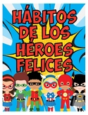 Superhero 7 Habits of Happy Kids Posters-Spanish-7 Hábitos de los Niños Felices