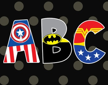 Superhero ABC Poster