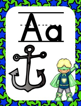 Superhero ABC Chart