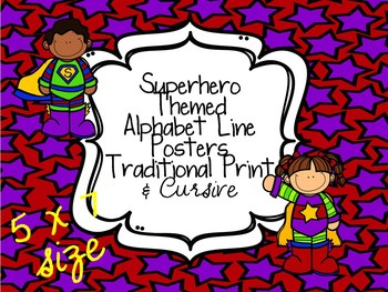 Superhero ABC Line Traditional Print & Cursive