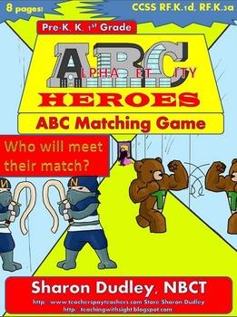 Superhero ABC Matching Game