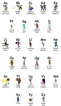 Superhero ABC Mini Poster