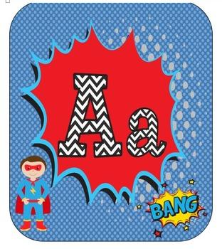 Superhero ABC Posters