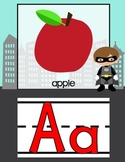 Superhero ABC's *Cute Alphabet line with phonics pictures
