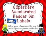 Superhero A.R. Book Bin Labels