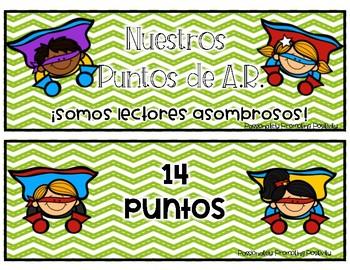 Superhero AR Chart in Spanish