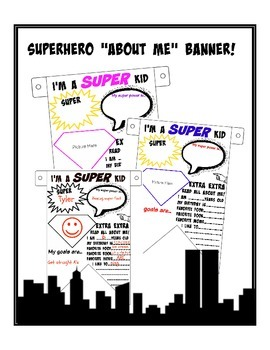 Superhero About Me Banner