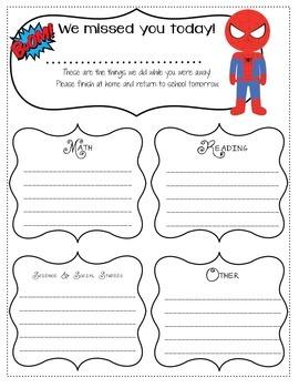 Freebie-Superhero Absent Form