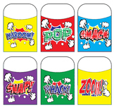 Superhero Action Bubble Library Pockets Series 2