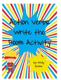 Superhero Action Verb Write the Room Activity