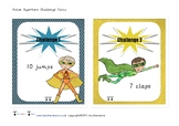 Superhero Active Challenge Cards