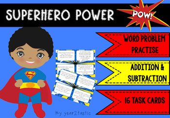 Superhero Addition & Subtraction Word Problems