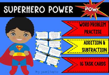 Superhero Addition & Subtraction Word Problems