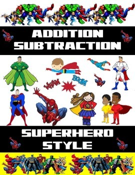 Superhero Addition and Subtraction Worksheets