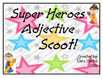 Superhero Adjective Scoot